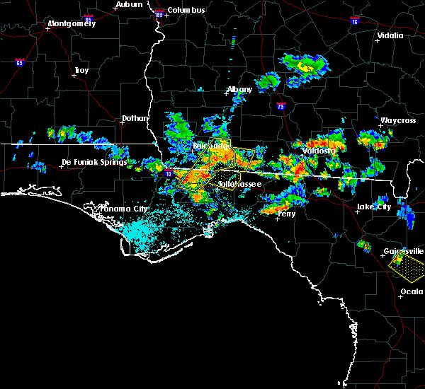 Radar Image for Severe Thunderstorms near Tallahassee, FL at 7/22/2015 7:16 PM EDT