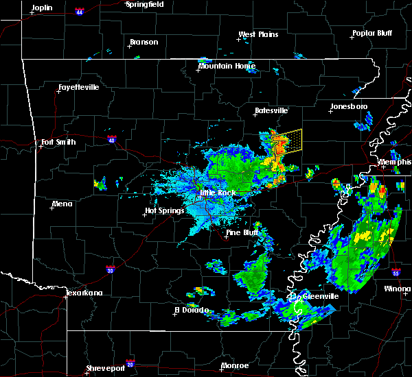 Radar Image for Severe Thunderstorms near Weldon, AR at 7/22/2015 7:08 PM CDT