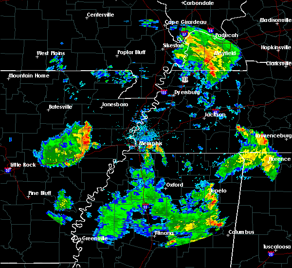 Radar Image for Severe Thunderstorms near West Memphis, AR at 7/22/2015 7:54 PM CDT