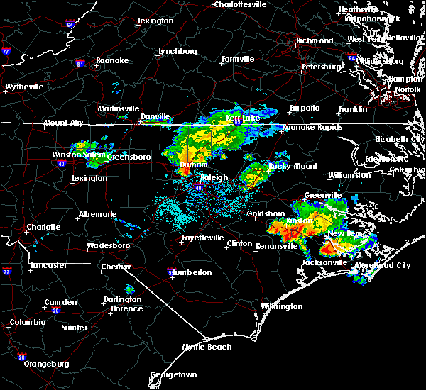 Radar Image for Severe Thunderstorms near Durham, NC at 7/23/2015 10:27 AM EDT