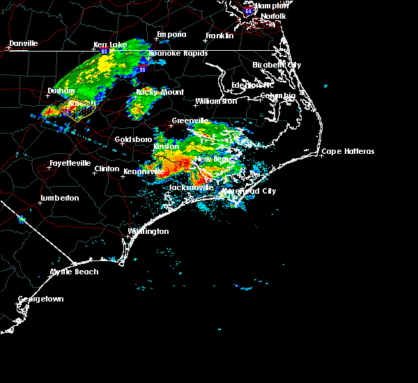 Radar Image for Severe Thunderstorms near Broad Creek, NC at 7/23/2015 11:04 AM EDT