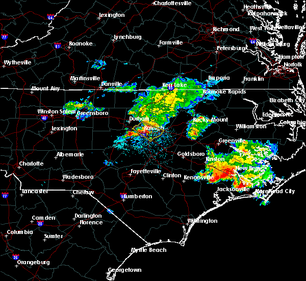Radar Image for Severe Thunderstorms near Clayton, NC at 7/23/2015 11:03 AM EDT