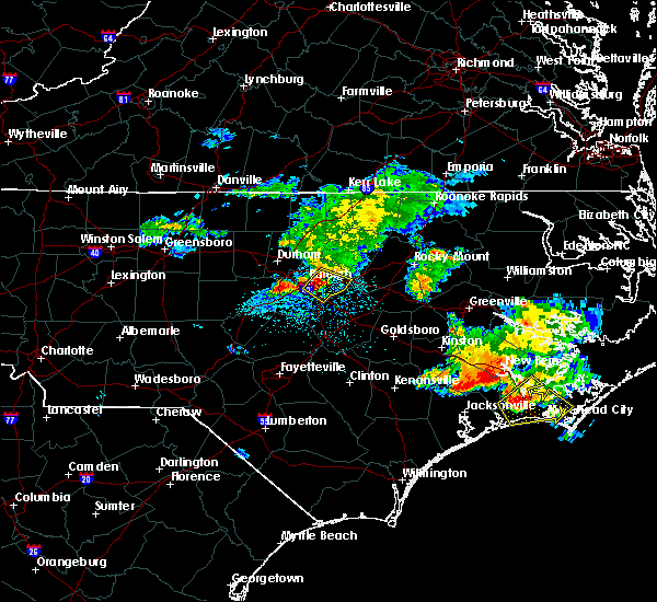 Radar Image for Severe Thunderstorms near Clayton, NC at 7/23/2015 11:12 AM EDT