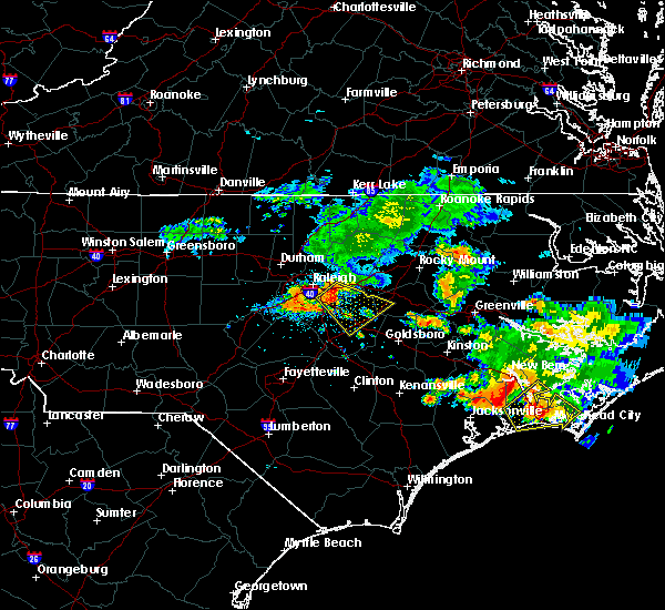 Radar Image for Severe Thunderstorms near Kenly, NC at 7/23/2015 11:36 AM EDT