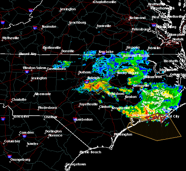 Radar Image for Severe Thunderstorms near Kenly, NC at 7/23/2015 12:11 PM EDT