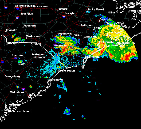 Radar Image for Severe Thunderstorms near Sandyfield, NC at 7/23/2015 3:51 PM EDT