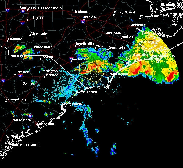 Radar Image for Severe Thunderstorms near Sandyfield, NC at 7/23/2015 4:26 PM EDT
