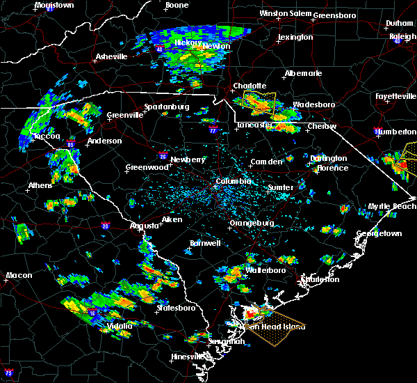 Radar Image for Severe Thunderstorms near Wingate, NC at 7/23/2015 4:37 PM EDT