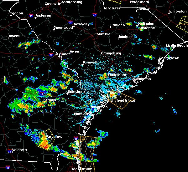 Radar Image for Severe Thunderstorms near Beaufort, SC at 7/23/2015 4:41 PM EDT