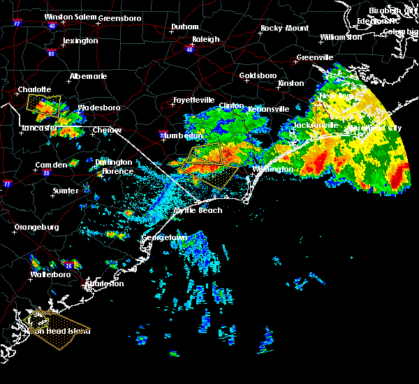 Radar Image for Severe Thunderstorms near Sandyfield, NC at 7/23/2015 4:42 PM EDT