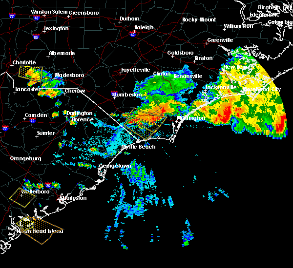 Radar Image for Severe Thunderstorms near Ocean Isle Beach, NC at 7/23/2015 4:49 PM EDT