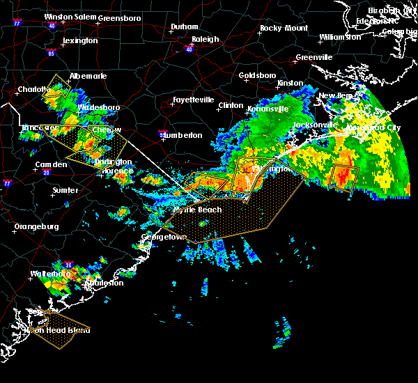 Radar Image for Severe Thunderstorms near Leland, NC at 7/23/2015 5:30 PM EDT
