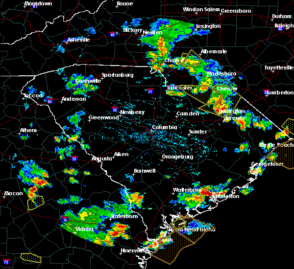 Radar Image for Severe Thunderstorms near Mount Pleasant, NC at 7/23/2015 5:41 PM EDT