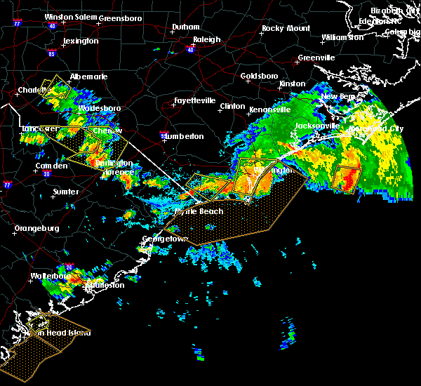 Radar Image for Severe Thunderstorms near Ocean Isle Beach, NC at 7/23/2015 5:43 PM EDT
