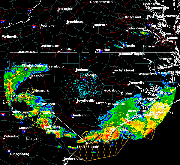 Radar Image for Severe Thunderstorms near Badin, NC at 7/23/2015 5:44 PM EDT