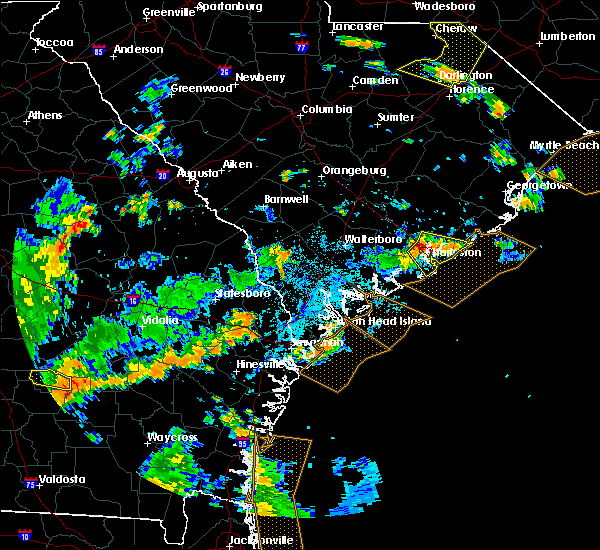 Radar Image for Severe Thunderstorms near North Charleston, SC at 7/23/2015 5:51 PM EDT