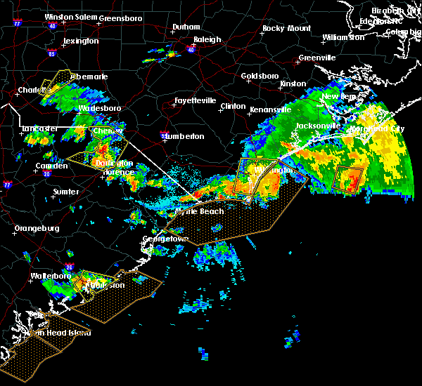 Radar Image for Severe Thunderstorms near Leland, NC at 7/23/2015 5:54 PM EDT
