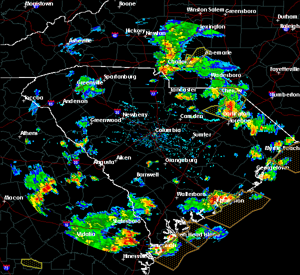 Radar Image for Severe Thunderstorms near Mount Pleasant, NC at 7/23/2015 5:57 PM EDT