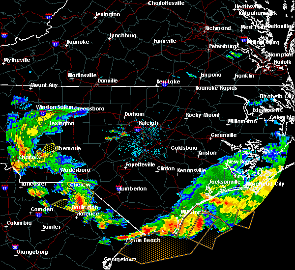 Radar Image for Severe Thunderstorms near Badin, NC at 7/23/2015 6:06 PM EDT