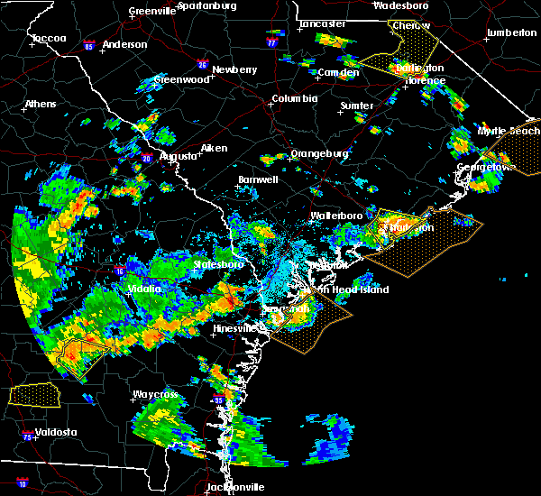 Radar Image for Severe Thunderstorms near North Charleston, SC at 7/23/2015 6:06 PM EDT