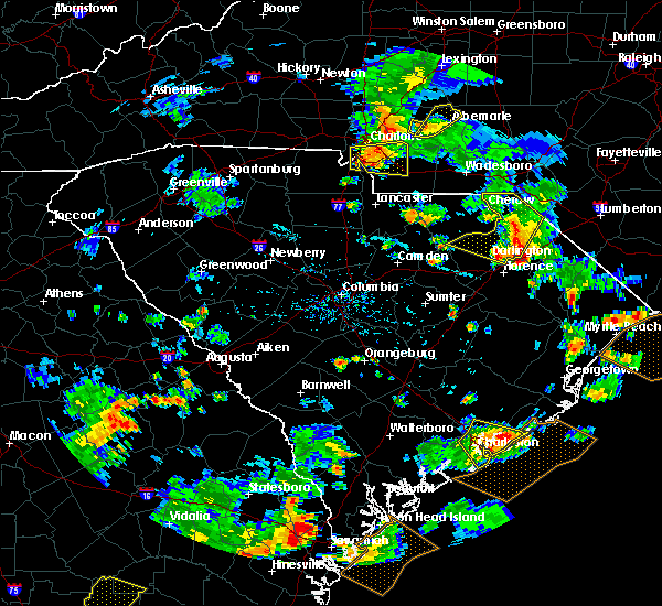 Radar Image for Severe Thunderstorms near Mount Pleasant, NC at 7/23/2015 6:12 PM EDT