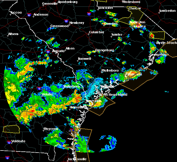 Radar Image for Severe Thunderstorms near North Charleston, SC at 7/23/2015 6:16 PM EDT