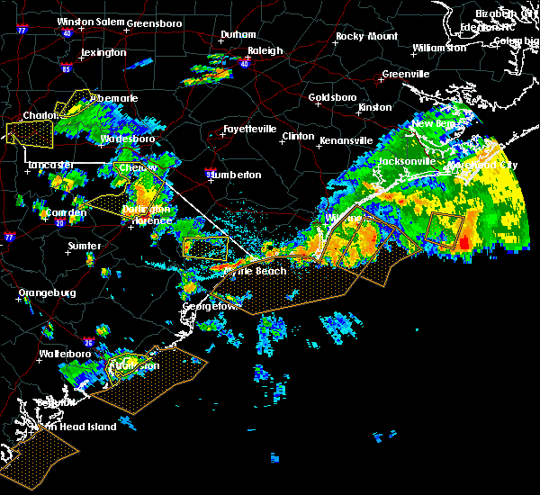 Radar Image for Severe Thunderstorms near Loris, SC at 7/23/2015 6:16 PM EDT