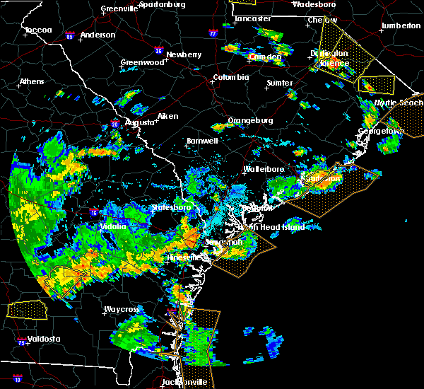 Radar Image for Severe Thunderstorms near Charleston, SC at 7/23/2015 6:25 PM EDT