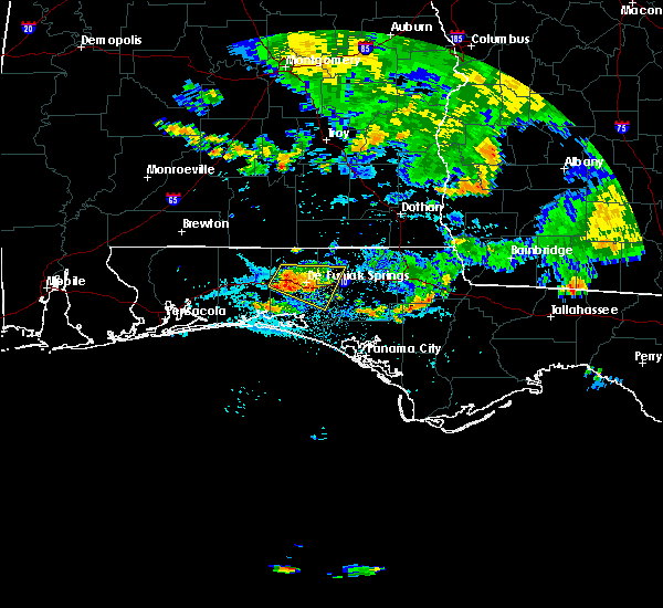 Radar Image for Severe Thunderstorms near Ponce de Leon, FL at 7/23/2015 5:41 PM CDT
