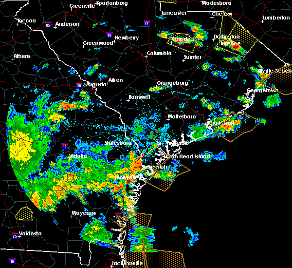 Radar Image for Severe Thunderstorms near Charleston, SC at 7/23/2015 6:41 PM EDT
