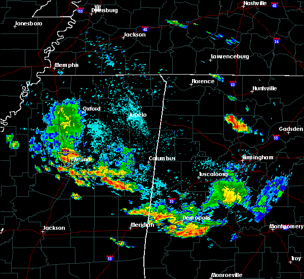 Radar Image for Severe Thunderstorms near Winona, MS at 7/23/2015 6:06 PM CDT