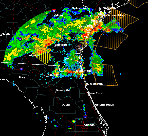 Radar Image for Severe Thunderstorms near Bellair-Meadowbrook Terrace, FL at 7/23/2015 7:22 PM EDT