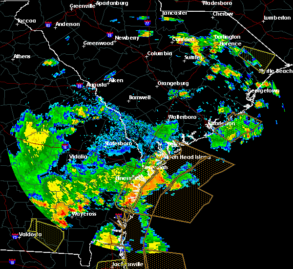 Radar Image for Severe Thunderstorms near Midway, GA at 7/23/2015 7:26 PM EDT