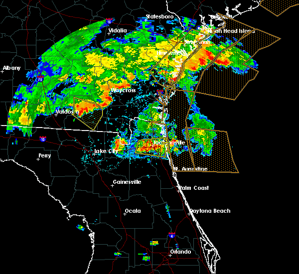 Radar Image for Severe Thunderstorms near Bellair-Meadowbrook Terrace, FL at 7/23/2015 7:40 PM EDT