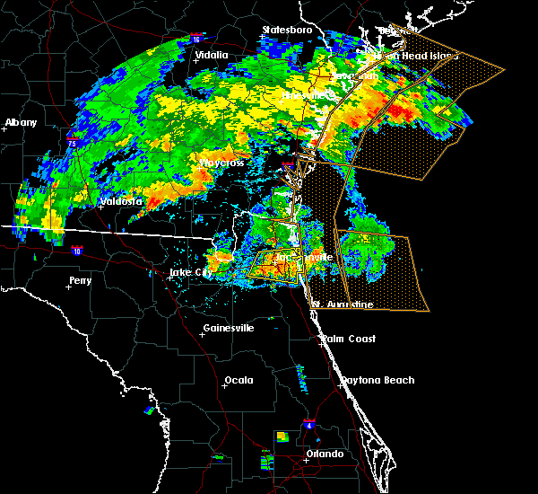 Radar Image for Severe Thunderstorms near Bellair-Meadowbrook Terrace, FL at 7/23/2015 7:50 PM EDT
