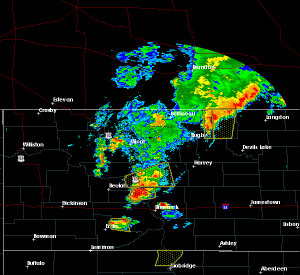 Radar Image for Severe Thunderstorms near Mylo, ND at 7/23/2015 7:40 PM CDT