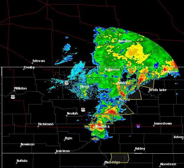 Radar Image for Severe Thunderstorms near York, ND at 7/23/2015 8:41 PM CDT