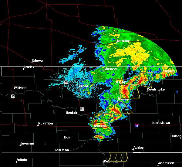 Radar Image for Severe Thunderstorms near Starkweather, ND at 7/23/2015 8:56 PM CDT