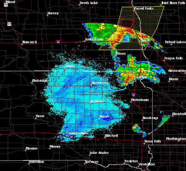 Radar Image for Severe Thunderstorms near Long Hollow, SD at 7/24/2015 12:14 AM CDT