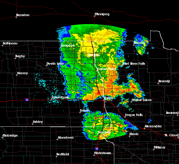 Radar Image for Severe Thunderstorms near Glyndon, MN at 7/24/2015 12:38 AM CDT
