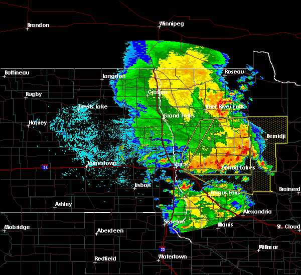 Radar Image for Severe Thunderstorms near Perham, MN at 7/24/2015 1:27 AM CDT