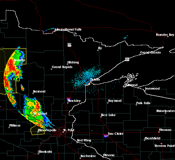 Radar Image for Severe Thunderstorms near Cass Lake, MN at 7/24/2015 1:54 AM CDT
