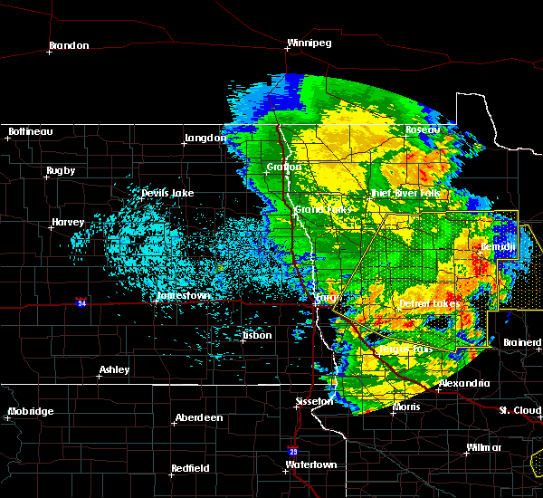 Radar Image for Severe Thunderstorms near Solway, MN at 7/24/2015 1:58 AM CDT