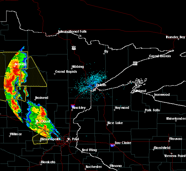 Radar Image for Severe Thunderstorms near Motley, MN at 7/24/2015 2:03 AM CDT