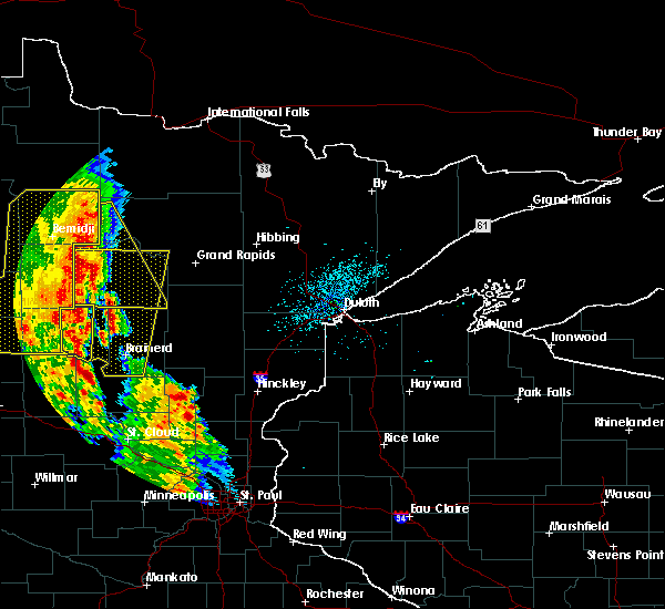 Radar Image for Severe Thunderstorms near Pequot Lakes, MN at 7/24/2015 2:24 AM CDT