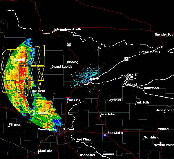 Radar Image for Severe Thunderstorms near Deer River, MN at 7/24/2015 2:28 AM CDT