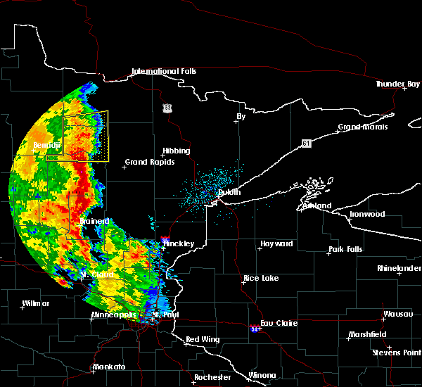 Radar Image for Severe Thunderstorms near Cass Lake, MN at 7/24/2015 2:52 AM CDT