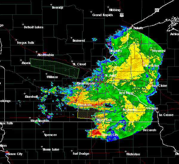 Radar Image for Severe Thunderstorms near Manchester, MN at 7/24/2015 6:40 AM CDT