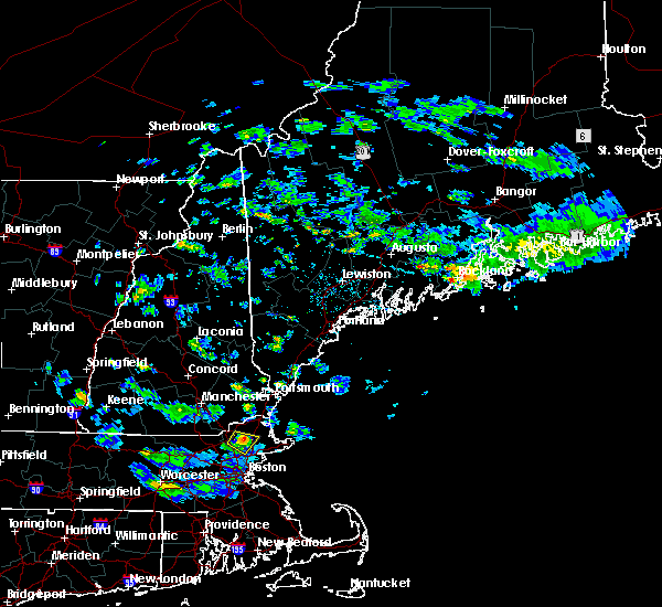 Radar Image for Severe Thunderstorms near Rockland, ME at 7/24/2015 4:22 PM EDT