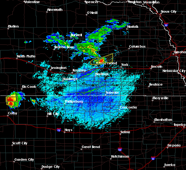 Radar Image for Severe Thunderstorms near Overland, NE at 7/24/2015 4:30 PM CDT